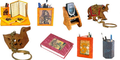 Decorate your office and love your work more with the exclusive handmade office accessories presented by Jindal Crafts. From designer diaries, decorative pen stands, handmade paper blocks to colorful paper cutters � every little thing that you might need
