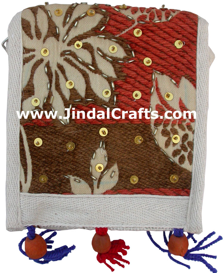 Bag Eco Friendly Hand Embroidered India Traditional Art