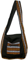 Colorful Hand Stitched Cotton Handbag Traditional Art