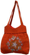 Colorful Hand Embroidered Handbag India Traditional Art