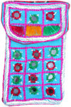 Cell Phone Bag Mirror Work Hand Embroidered India Arts