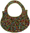 Hand Embroidered Designer Pattern Beaded Purse Gift Art
