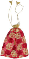 Drawstring Organza Bags Embroidered India Traditional