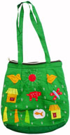 Colorful Eco Friendly Shopping Bag Patch Handwork India