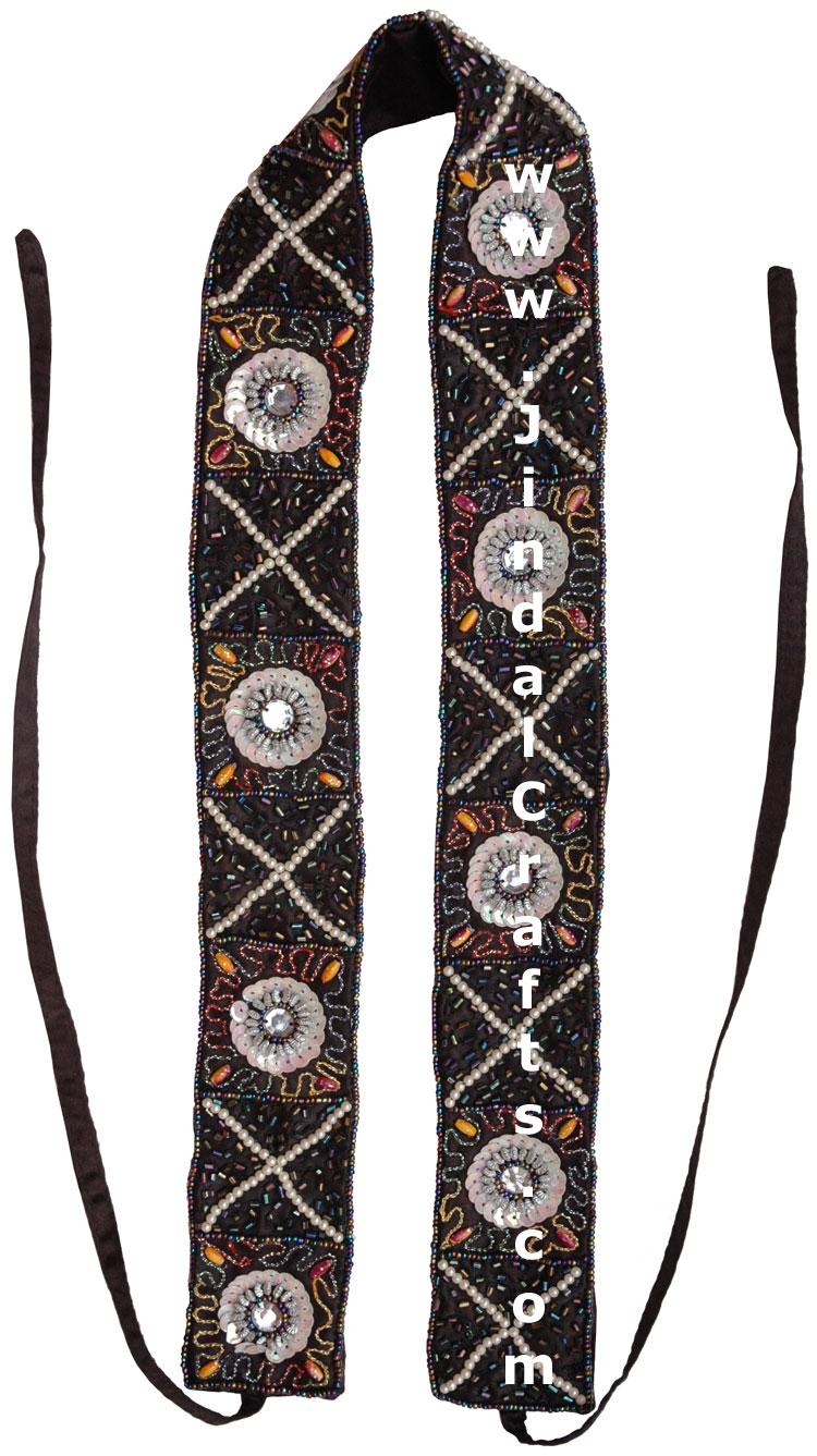 Handmade Embroidered Beaded Ladies Fashion Belt India