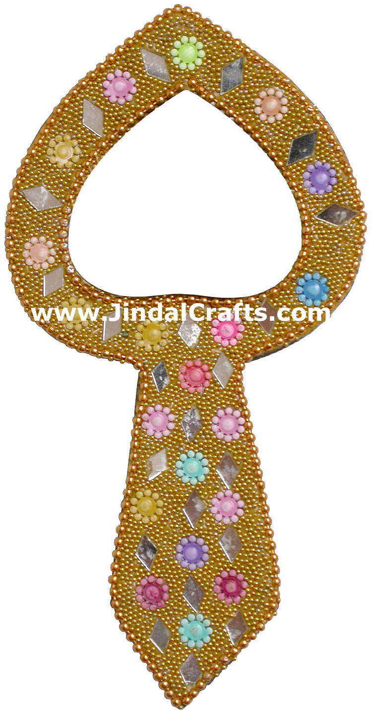 Lac Made Compact Mirror Traditional Design Art India