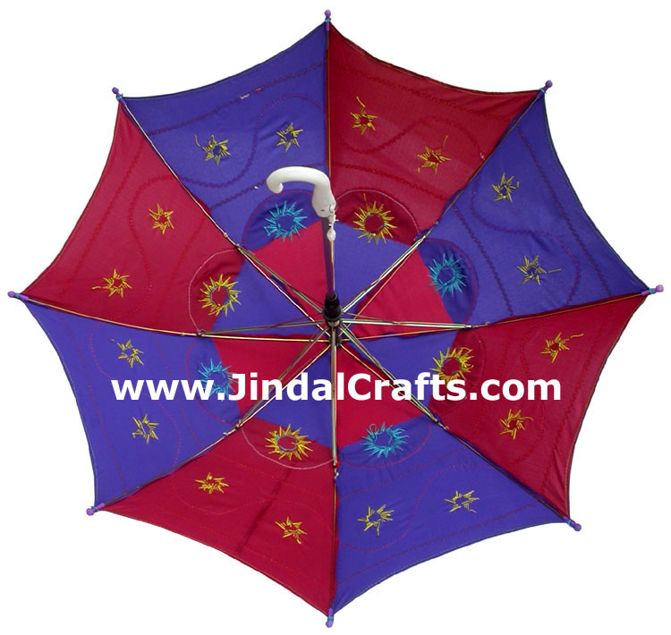 Colorful Embroidery Traditional Sun Umbrella India Applique Art Handmade Crafts