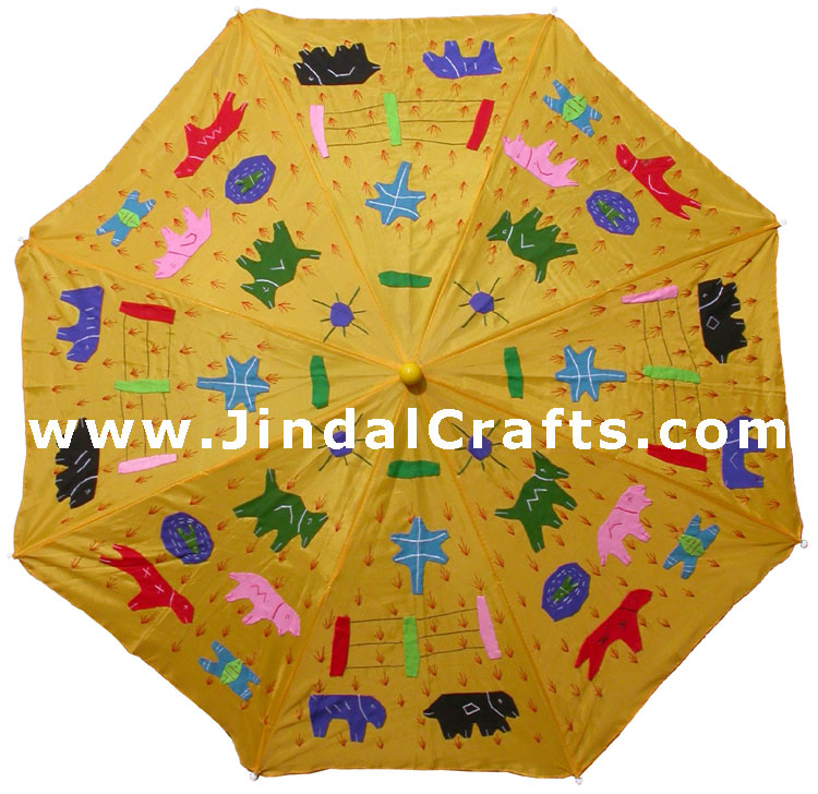 Water Proof Patch Work Sun Umbrella India Applique Art
