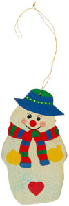 Handcrafted Handpainted Wood Christmas Hanging Ornament