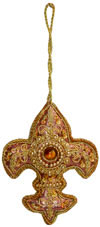 Hand Embroidered Zari Christmas Hangings Ornament India