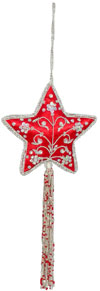 Beadwork Cotton Ornaments Christmas Handcrafted India