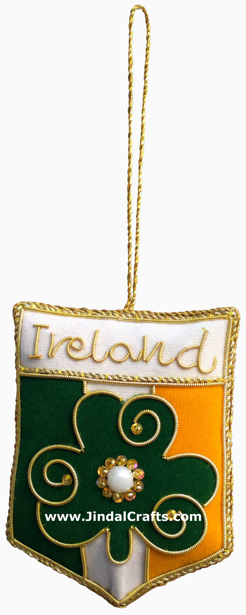 Irish Themed Hand Made Embroidered Christmas Ornaments Xmas Holiday Decorations
