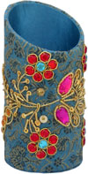 Colourful Hand Embroidered Designer Pen Holder India Unique Gift Souvenirs