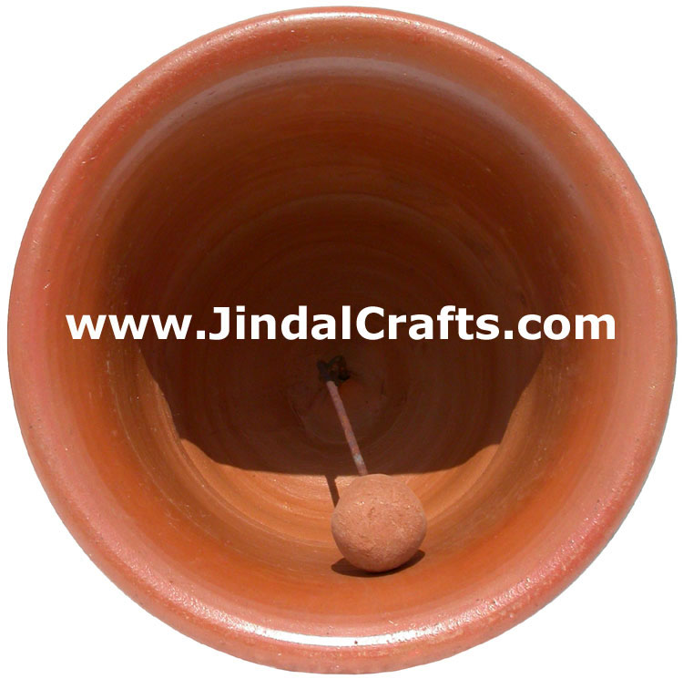 Terracotta Bell Hand made Warli Painting Traditional