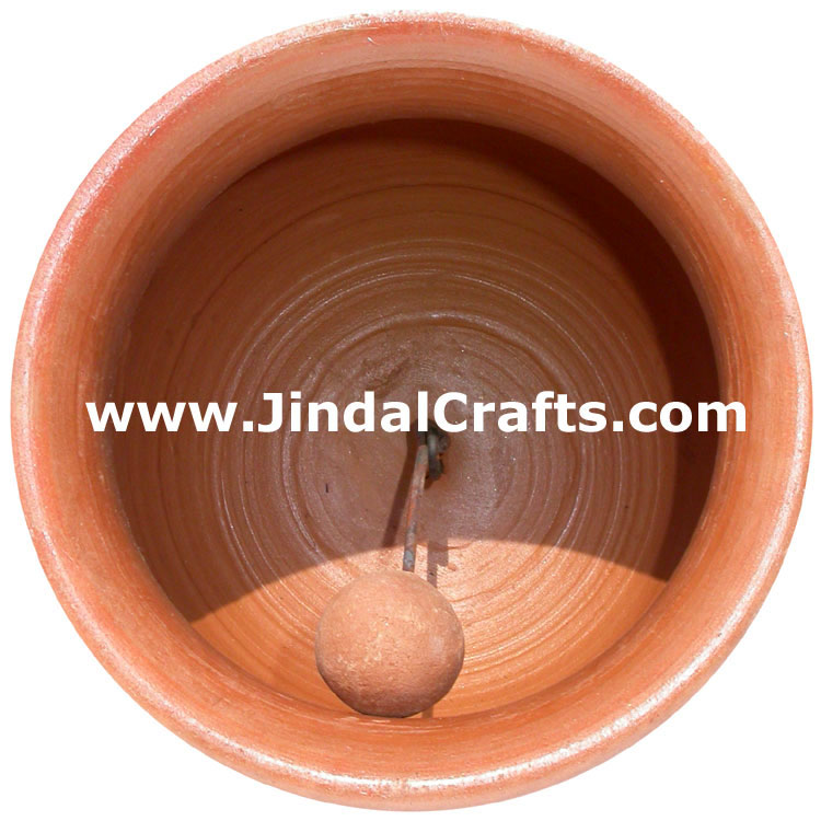 Terracotta Bell - Hand made Warli Painting Traditional