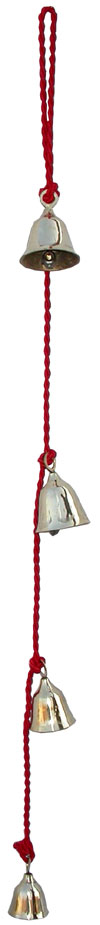 Wind Chimes Hanging Bells - Brass Beads Made Home Decoration Christmas Xmas Bell