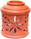 Oil Burner cum Candle holder - Handmade Terracotta Art
