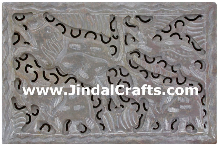 Hand Carved Marble Jewelry Box Indian Art
