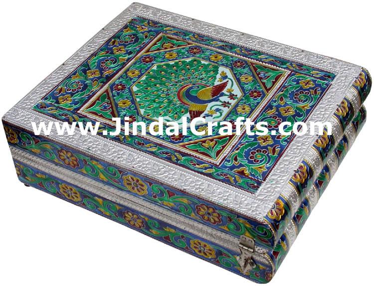 Jewelry box handmade wood aluminium encarved decor for Al ahram aluminium decoration