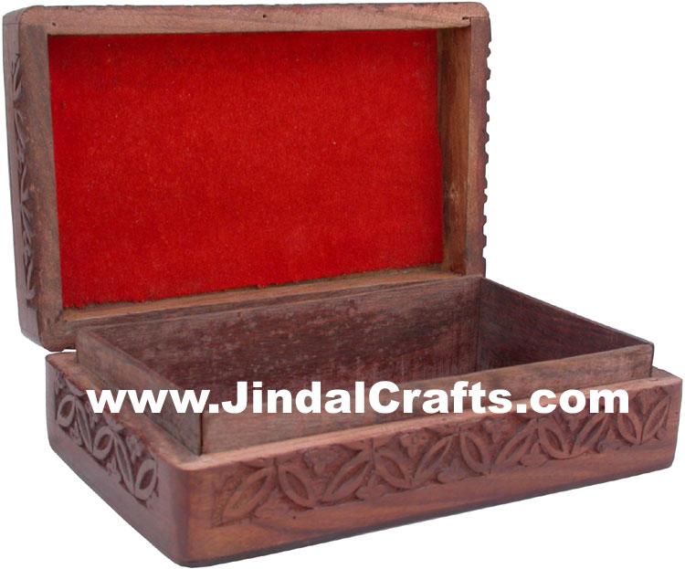 Handmade Wooden Elephants Box Indian Handicrafts Arts Crafts Gift Souvenirs