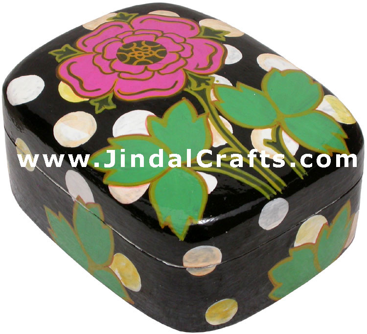 Jewelry Box - Papeir Machie made Hand Painted India Art