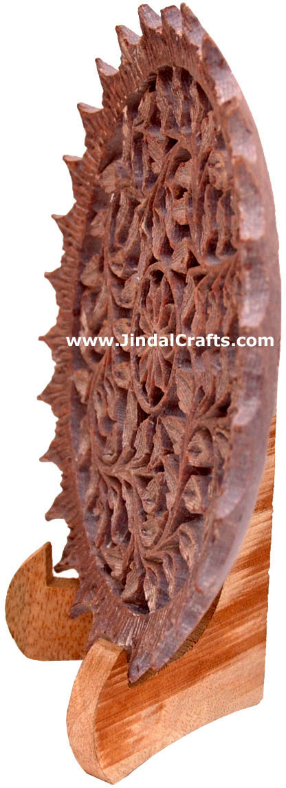 Hand Carved Soft Stone Decorative Plate Indian Art