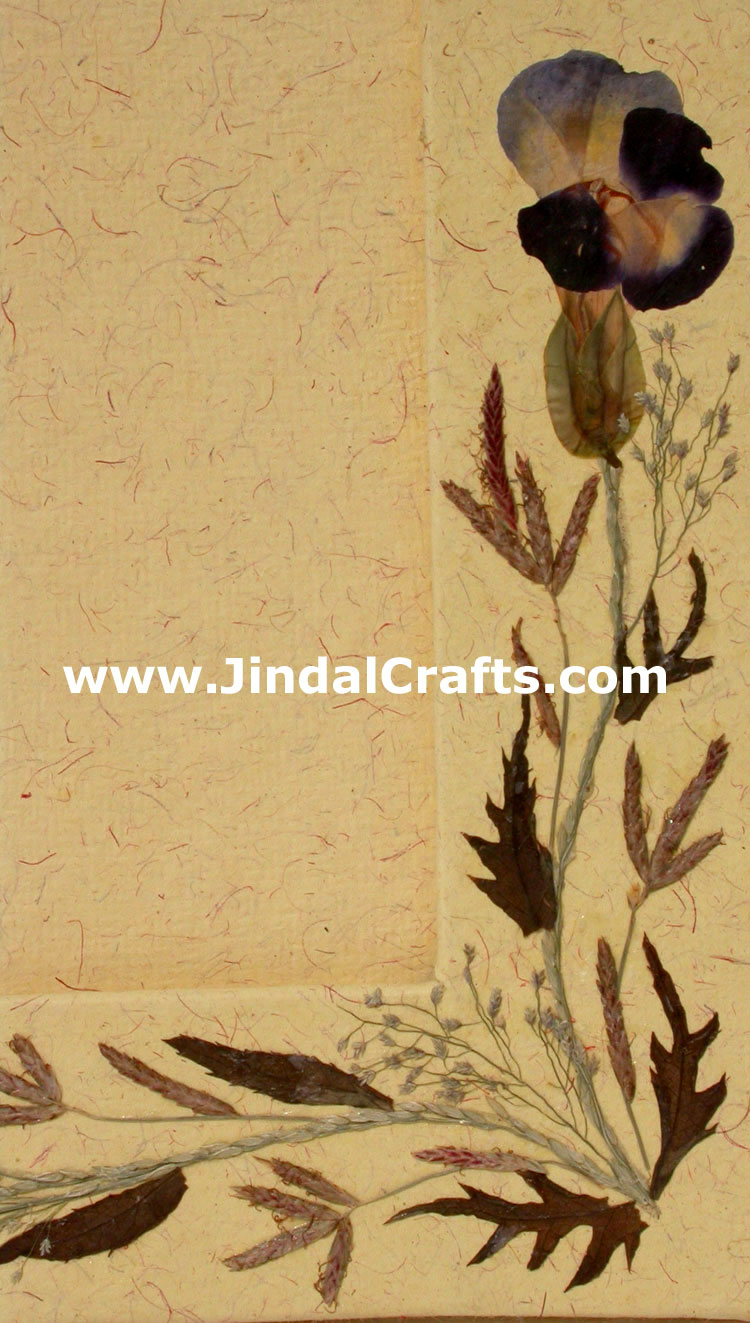 Hand Made Dried Flowers Decorative Photo Frame India