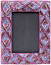 Hand Embroidered Photo Picture Frame India Art Collectible Gift Handicrafts 6x4