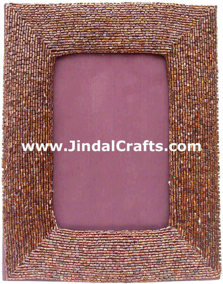 Hand Embroidered Photo Frame India Art