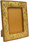 Hand Embroidered Beaded Photo Picture Frame India Arts