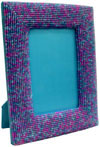 Hand Embroidered Beaded Photo Picture Frame India Arts Home Decor Table Top Gift