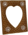 Hand Embroidered Beaded Zari Zardozi Photo Frame Rich Indian Traditional Crafts