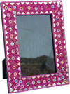 Hand Made Lac Mirror Photo Frame Rich Indian Traditional Crafts Handicrafts Arts
