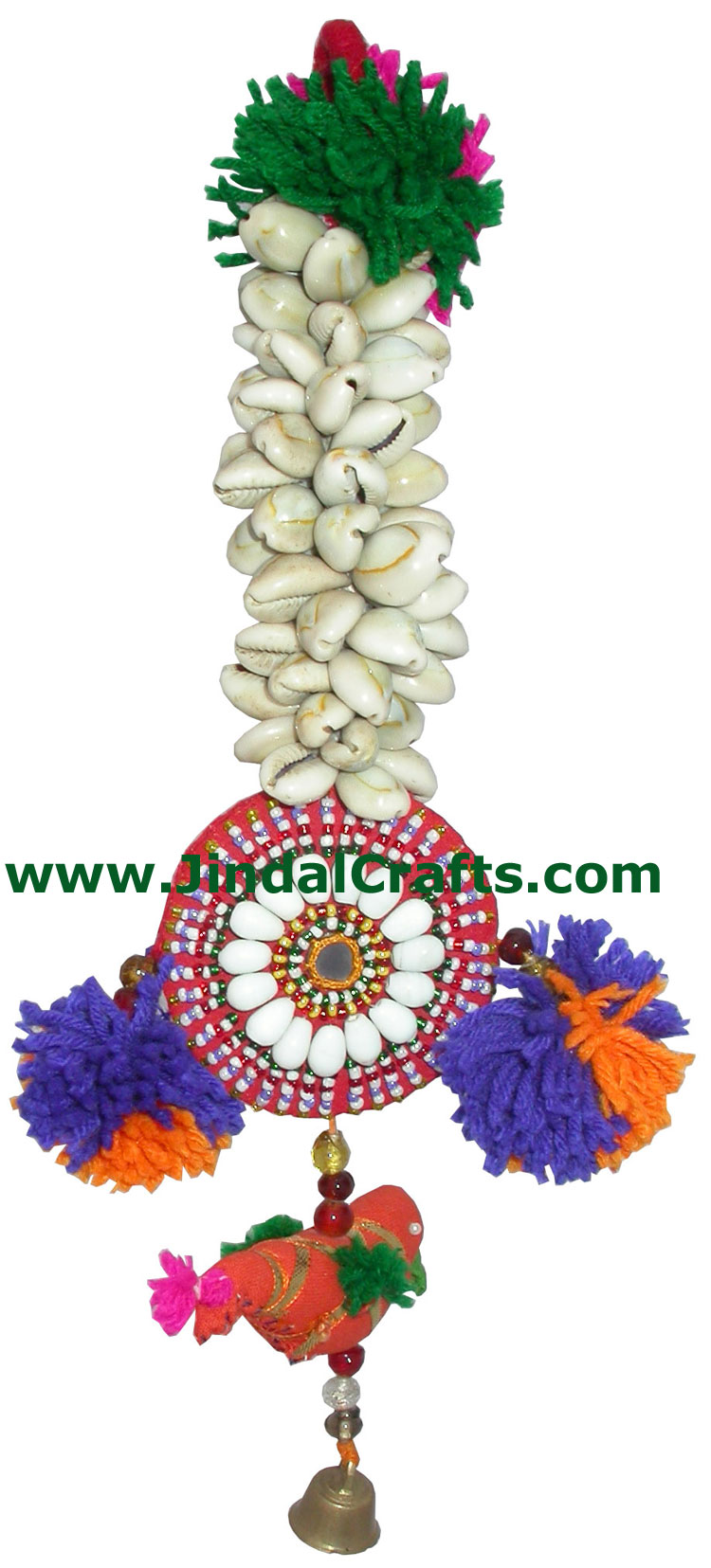 Handmade Traditional Shell Kodi Bunch Hanging India Art
