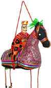 Handmade Traditional Horse Riding Dancer India Folk Art
