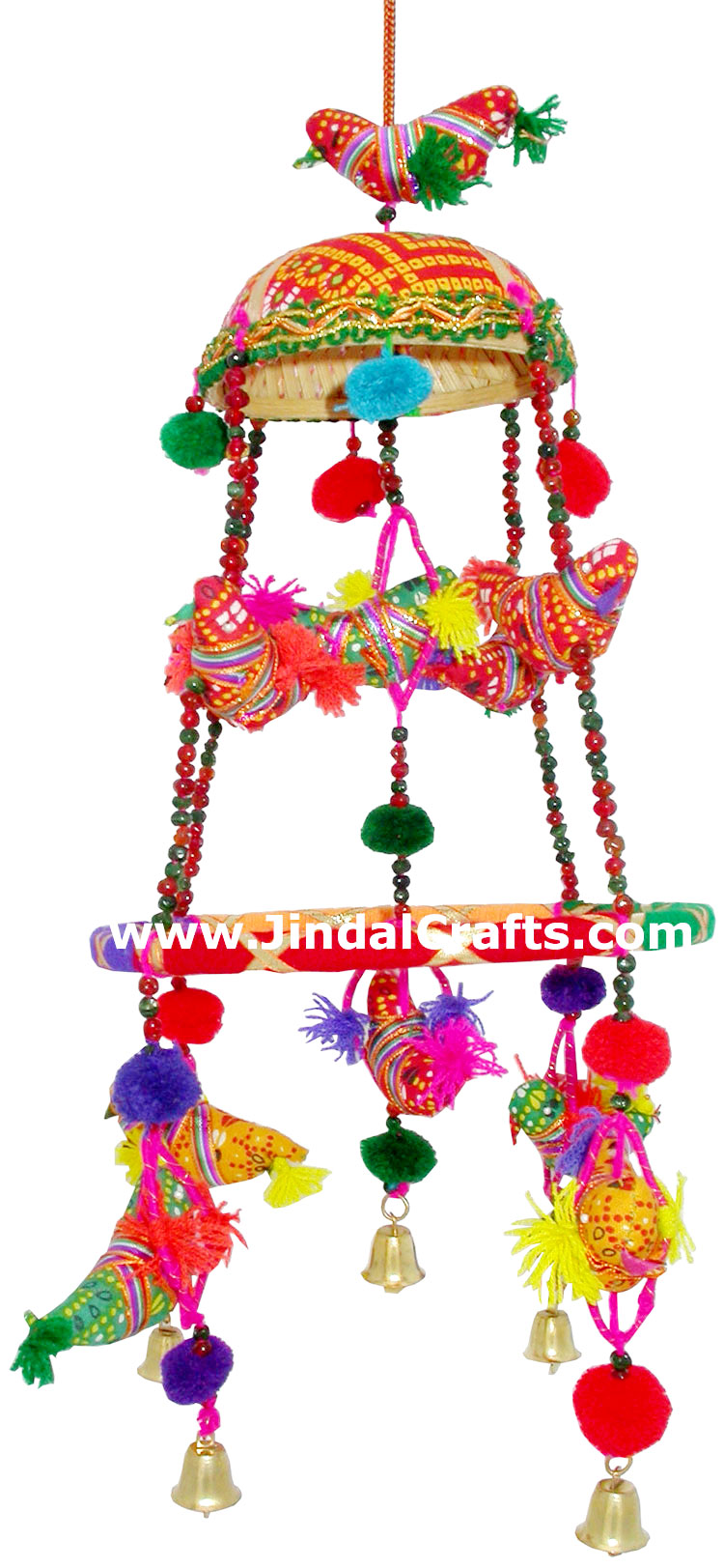 Handmade Traditional Eleven Birds Hanging India Folk