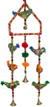 Handmade Traditional Seven Birds Triangle Hanging India