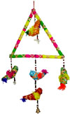 Handmade Traditional Five Birds Triangle Hanging Indian