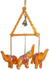 Handmade Traditional Three Birds Triangle Hanging India