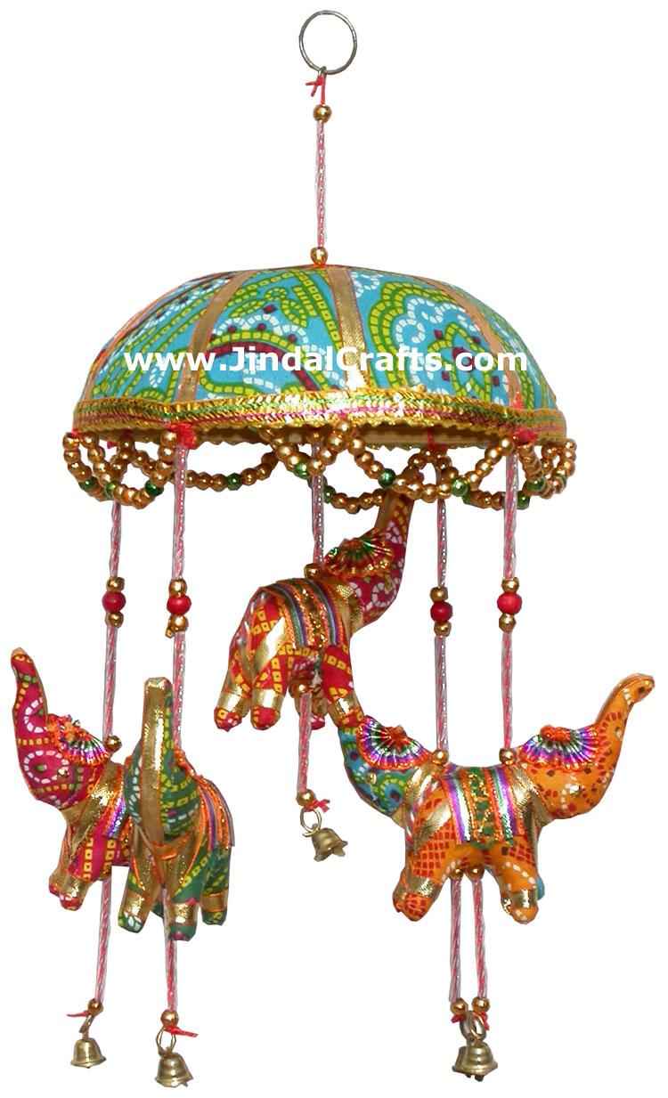 Elephants Hanging Home Decor Troble Handicrafts India