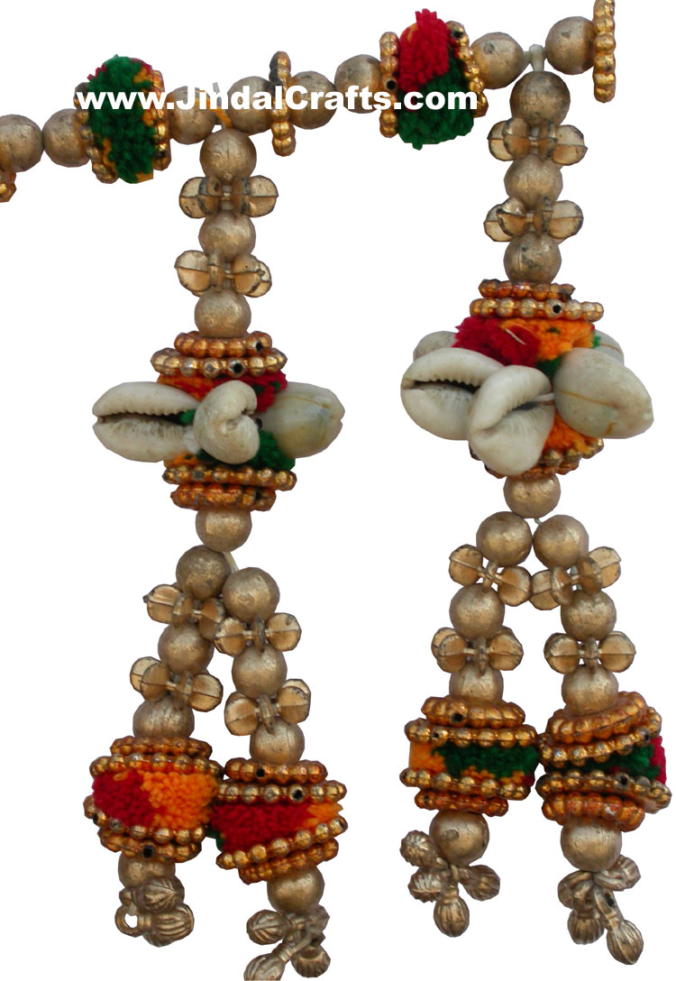 Colourful Handmade Hanging Toran Home Decor Traditional Handicrafts Arts India Ebay