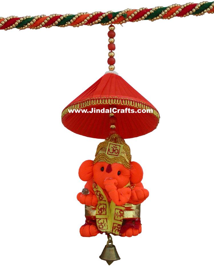 Colourful Handmade Ganesha Hanging Toran Home Decor