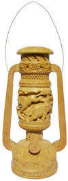 Handmade Wooden Lampshade Lantern Jungle India Art Work