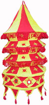 Colourful Fabric Lamp Shade Hand Made Rich Art Craft Handicrafts from India