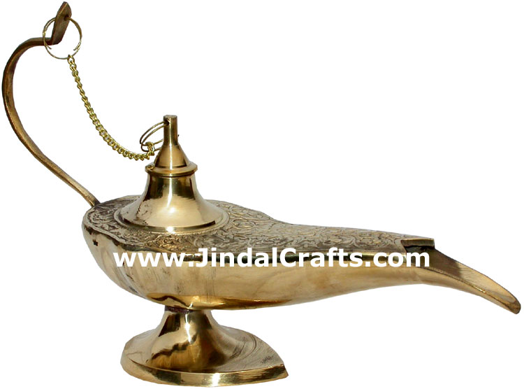 Magic Lamp Aladdin Disney Chirag Metal Craft Home Decoration Art Decor Jasmine
