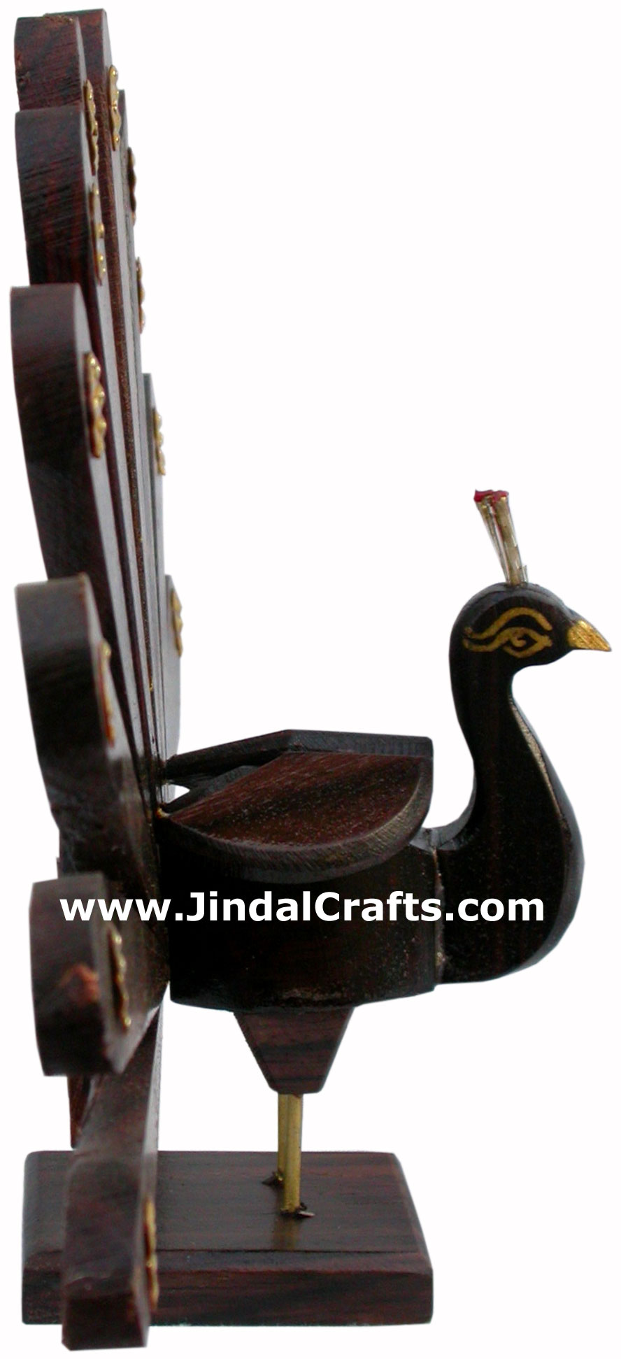 Wooden Peacock Hand Carved Indian Tribal Handicraft