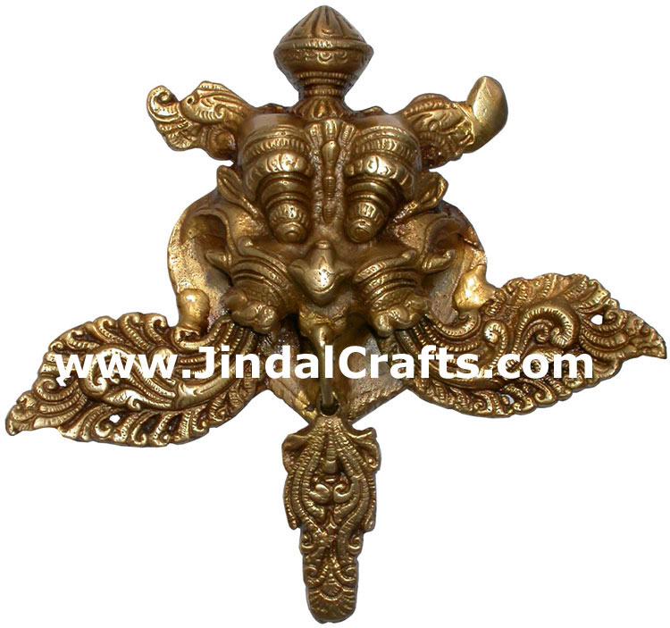 Brass Jungle Mask India Carving Art Crafts