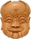 Hand Carved Traditional Decorative Wooden Mask India Nazar Battu Figure Craft