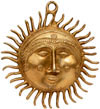Brass made Sun Wall Mask Indian Traditional Artifacts