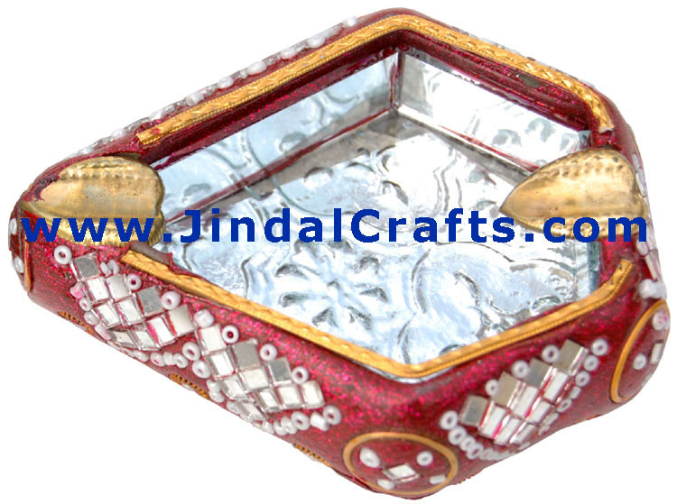 Lac Made Ash Tray – Handcrafted Art from India